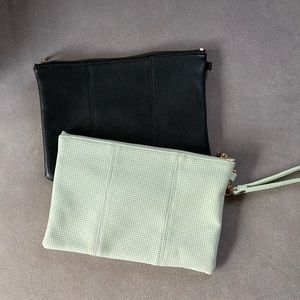 Sole Society vegan leather clutches/pouches